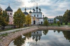 De woestijn van beklimmingsdavid Het klooster van het bisdom van Moskou van de Russische Orthodoxe Kerk Royalty-vrije Stock Foto
