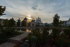 De woestijn van beklimmingsdavid Het klooster van het bisdom van Moskou van de Russische Orthodoxe Kerk Royalty-vrije Stock Foto's