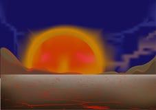 De woestijn van de ochtend Stock Fotografie