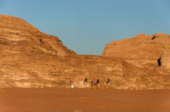 De Woestijn van de Rum van de wadi in Jordanië royalty-vrije stock afbeelding