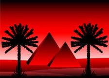 De woestijn van de Sahara royalty-vrije illustratie