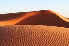 De woestijn van de Sahara Stock Afbeeldingen