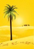 De woestijn van de Sahara stock illustratie