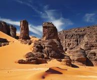 De Woestijn van de Sahara, Algerije Royalty-vrije Stock Foto