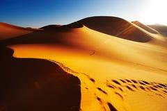 De Woestijn van de Sahara, Algerije Royalty-vrije Stock Afbeelding
