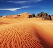De Woestijn van de Sahara, Algerije Stock Afbeelding
