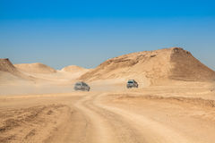 De woestijn van de Sahara dichtbij NGO Jemel in Tozeur, Tunesië royalty-vrije stock afbeelding