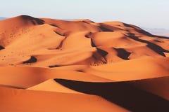 De woestijn van de Sahara in Marokko Stock Foto