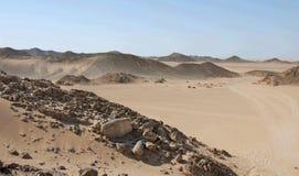 De woestijn van Egypte Stock Afbeelding
