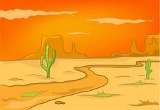 De Woestijn van het Landschap van de Aard van het beeldverhaal Stock Fotografie