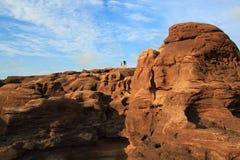 De woestijn van het woestijnland sarid Stock Foto