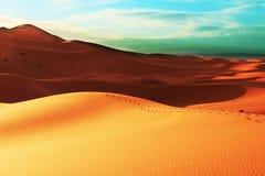 De woestijn van het zand royalty-vrije stock foto's