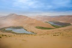 De Woestijn van Jaran van Badain stock afbeeldingen