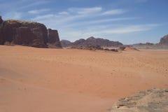 De woestijn van Jordanië Stock Foto