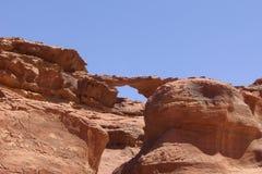 De woestijn van Jordanië Stock Foto's