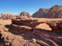 De woestijn van Jordanië - Wadi Rum- stock foto's