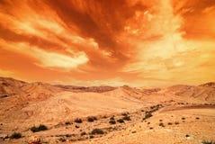 De woestijn van Judean Stock Afbeeldingen