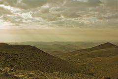 De Woestijn van Judean en Dode Overzees. Ochtend. Stock Fotografie