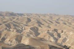De Woestijn van Judean, Israël, dichtbij Wadi Qelt Stock Foto