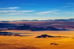De Woestijn van Namib, luchtmening Royalty-vrije Stock Afbeelding