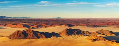 De Woestijn van Namib, vogelperspectief Royalty-vrije Stock Foto