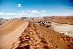 De Woestijn van Namibië, Sussusvlei, Afrika Stock Afbeeldingen