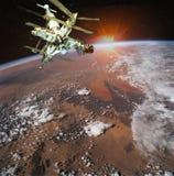 De woestijn van de Sahara van de ruimte wordt gezien die vector illustratie