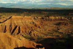 De woestijn van Tatacoa dichtbij Neiva in Colombia Royalty-vrije Stock Fotografie