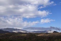De Woestijnbergen van Arizona in de Winter Stock Afbeeldingen