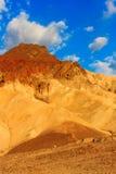 De woestijnlandschap van de berg in het Nationale Park van de Vallei van de Dood, Califor Stock Fotografie