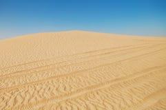 De woestijnlandschap van de Sahara Stock Foto's