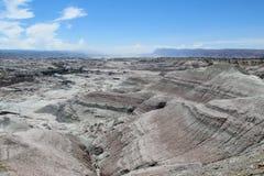 De woestijnlandschap van het Ischigualasto nationaal park Stock Foto