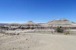 De woestijnlandschap van het Ischigualasto nationaal park, Argentinië stock foto