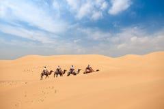 De woestijnreis van het zand Royalty-vrije Stock Afbeeldingen