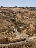 De woestijnweg Stock Afbeeldingen
