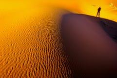 De woestijnzand van de Sahara Stock Afbeelding