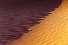 De woestijnzand van de Sahara Stock Foto's