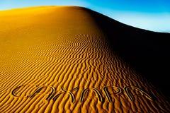 De woestijnzand van de Sahara Royalty-vrije Stock Afbeeldingen