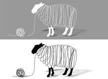 De wol van schapen Stock Foto's