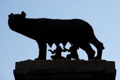 De wolf Capitoline - Rome Royalty-vrije Stock Fotografie