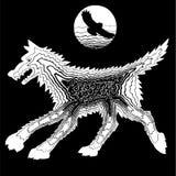 De wolf en de schapen Stock Afbeelding