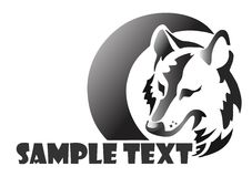 De wolf van Logotype stock afbeelding