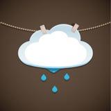 De Wolk en de Regen van de conceptenillustratie Stock Afbeelding