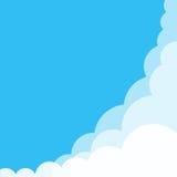 De wolk op Blauwe Hemelachtergrond en heeft ruimte voor tussenvoegseltekst Stock Afbeeldingen