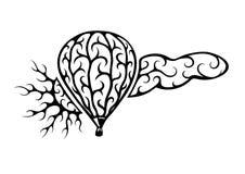 De wolk van de ballonzon Royalty-vrije Stock Afbeeldingen