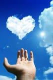 De wolk van de liefde Royalty-vrije Stock Afbeeldingen