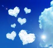 De wolk van de liefde Stock Foto
