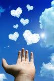 De wolk van de liefde Royalty-vrije Stock Afbeelding