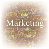 De wolk van de markering Marketing Stock Fotografie