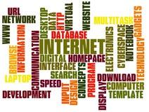 De Wolk van de Markering van de Technologie van Internet Stock Afbeelding